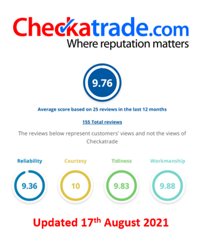 Soveriegn Home Improvements - Cheeck- A - Trade reviews and scores, Essex - August 2021
