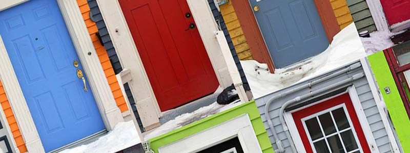 Coloured Front Doors